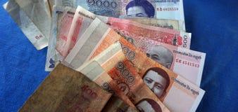 billetes de banco camboyanos Fotografía de archivo