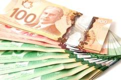 Billetes de banco canadienses Fotografía de archivo libre de regalías