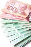 Billetes de banco canadienses Fotos de archivo libres de regalías