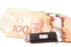 Billetes de banco canadienses Foto de archivo libre de regalías