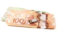 Billetes de banco canadienses Foto de archivo