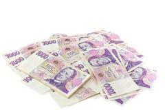 Billetes de banco checos Fotografía de archivo