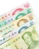 Billetes de banco chinos Foto de archivo libre de regalías