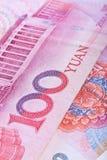 Billetes de banco chinos de RMB Fotografía de archivo