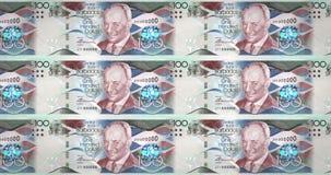Billetes de banco de cientos dólares del balanceo de la isla de Barbados, dinero del efectivo, lazo libre illustration