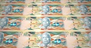 Billetes de banco de cincuenta dólares del balanceo de la isla de Barbados, dinero del efectivo, lazo stock de ilustración