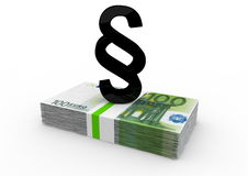 Billetes de banco con párrafo negro Imagen de archivo