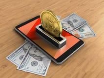 billetes de banco 3d Foto de archivo libre de regalías