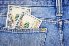 Billetes de banco de cientos dólares americanos Fotografía de archivo libre de regalías