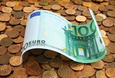 Billetes de banco de cientos euros Fotografía de archivo libre de regalías