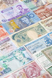 Billetes de banco de diversos países imágenes de archivo libres de regalías