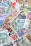 Billetes de banco de diversos países Fotografía de archivo libre de regalías