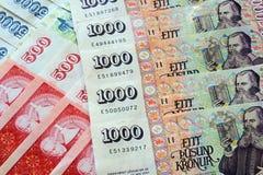 Billetes de banco de la corona de Islandia Foto de archivo libre de regalías