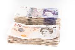 Billetes de banco de la libra británica Imagen de archivo libre de regalías