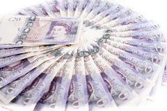 Billetes de banco de la libra británica Fotos de archivo libres de regalías