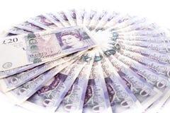 Billetes de banco de la libra británica Fotografía de archivo libre de regalías