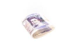 Billetes de banco de la libra británica Imágenes de archivo libres de regalías