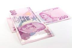 Billetes de banco de la lira turca Imagen de archivo