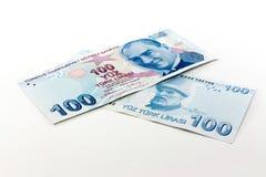 Billetes de banco de la lira turca Imagen de archivo libre de regalías