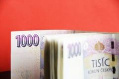 Billetes de banco de la República Checa Imagen de archivo libre de regalías