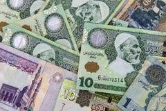 Billetes de banco de Libia imagen de archivo