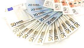 Billetes de banco de los euros Fotografía de archivo libre de regalías