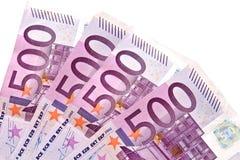 500 billetes de banco de los euros Imagen de archivo