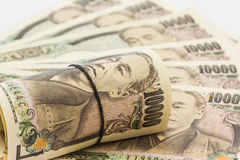 Billetes de banco de los yenes japoneses Imágenes de archivo libres de regalías