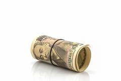 Billetes de banco de los yenes japoneses Imagenes de archivo