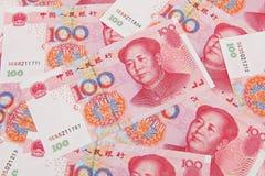 Billetes de banco de RMB Fotografía de archivo