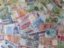 Billetes de banco de todo el mundo Imágenes de archivo libres de regalías