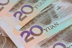Billetes de banco de Yuan del chino (Renminbi) para el dinero y el conce del negocio Imagen de archivo libre de regalías