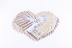 Billetes de banco del baht tailandés 1000 Fotos de archivo