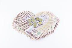 Billetes de banco del baht tailandés 1000 Imagen de archivo libre de regalías