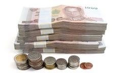 Billetes de banco del baht tailandés Fotografía de archivo libre de regalías