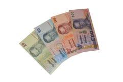 Billetes de banco del baht tailandés Fotos de archivo libres de regalías