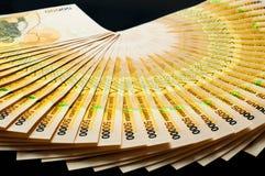 50.000 billetes de banco del chelín de Uganda Imágenes de archivo libres de regalías