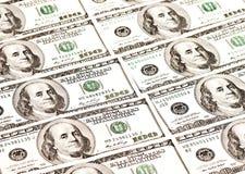 100 billetes de banco del dólar Fotografía de archivo