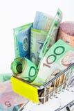 Billetes de banco del dólar australiano Fotografía de archivo libre de regalías
