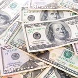 Fondo de los billetes de banco del dólar Foto de archivo libre de regalías