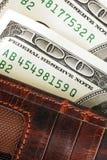 Billetes de banco del dólar en carpeta Foto de archivo libre de regalías