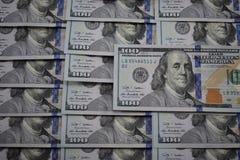 100 billetes de banco del dólar de los E.E.U.U. Foto de archivo