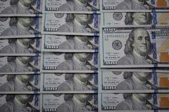 100 billetes de banco del dólar de los E.E.U.U. Fotos de archivo libres de regalías