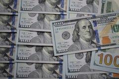 100 billetes de banco del dólar de los E.E.U.U. Fotografía de archivo