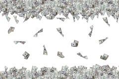 Billetes de banco del dólar que vuelan y que caen abajo Fotos de archivo libres de regalías