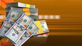 billetes de banco del dinero 3d stock de ilustración