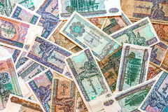 Billetes de banco del dinero de Myanmar (Birmania), viejos y nuevos del kyat Foto de archivo libre de regalías