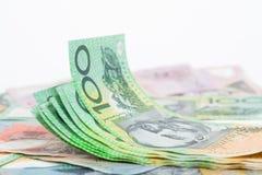 Billetes de banco del dólar australiano Fotos de archivo libres de regalías