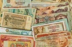 Billetes de banco del efectivo del vintage Imágenes de archivo libres de regalías