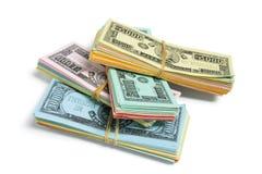 Billetes de banco del juego fotos de archivo